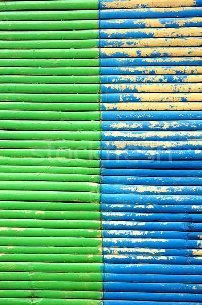 2 色 竹 カーテン 木材 壁 ストックフォト © antonihalim