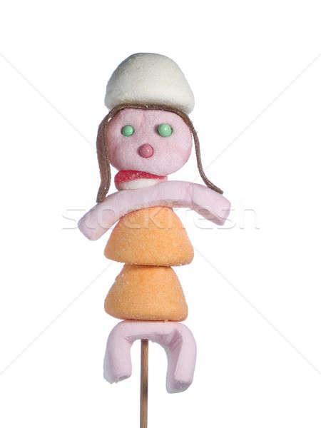 Candy ludzi kobiet statuetka na zewnątrz Zdjęcia stock © antonprado