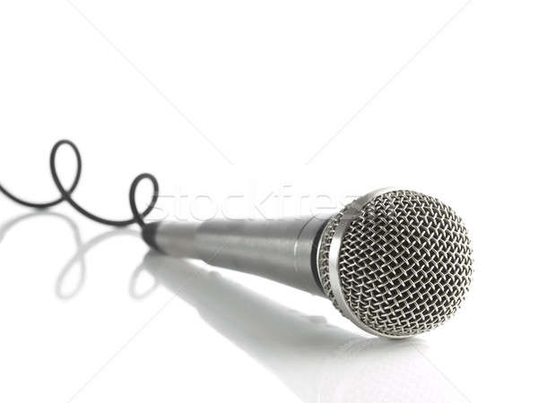 Mic with curled cable Stock photo © antonprado