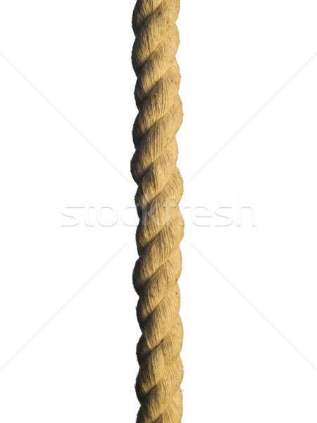 Halat kahverengi yalıtılmış beyaz kablo Stok fotoğraf © antonprado
