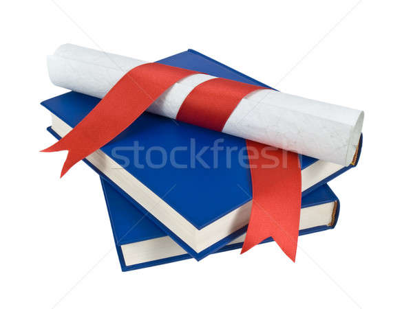 Dilploma and books Stock photo © antonprado