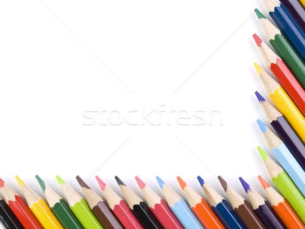 Stock photo: Pencil frame