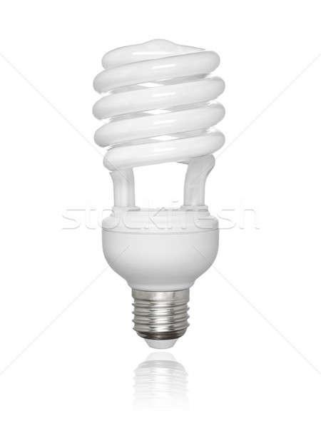 Izolált fluoreszkáló villanykörte kompakt fehér kicsi Stock fotó © antonprado