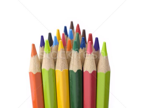 Delta formacja kilka kolorowy ołówki stoją Zdjęcia stock © antonprado