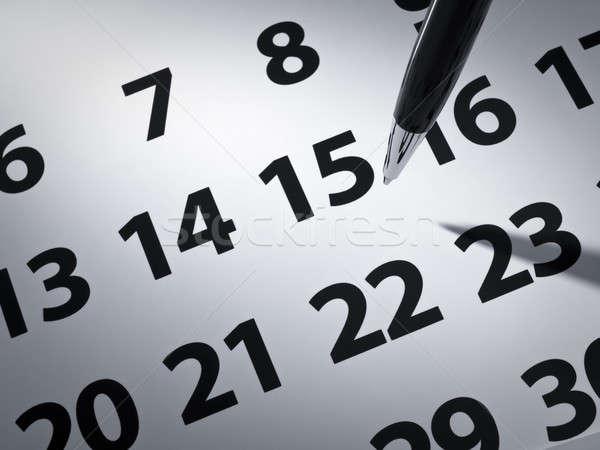 Pen and calendar Stock photo © antonprado