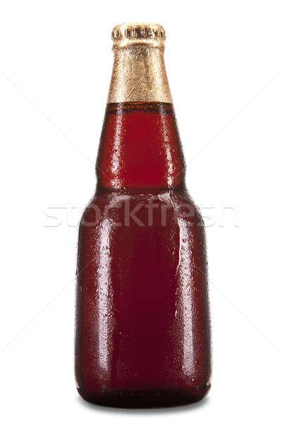 Piwa odizolowany butelki biały świetle szkła Zdjęcia stock © antonprado