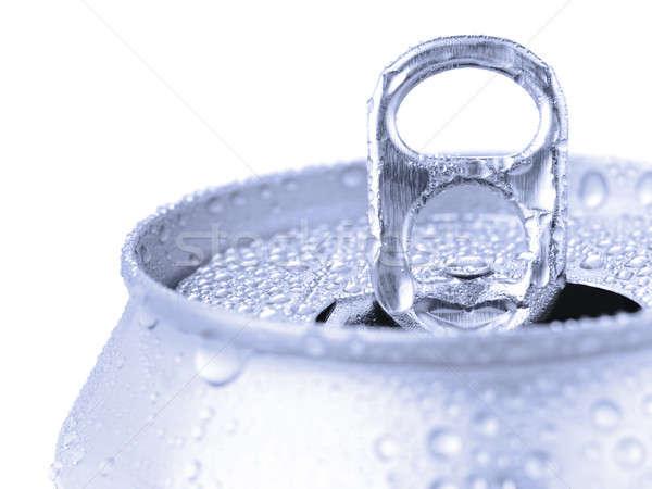 Zilver tin kan Stockfoto © antonprado