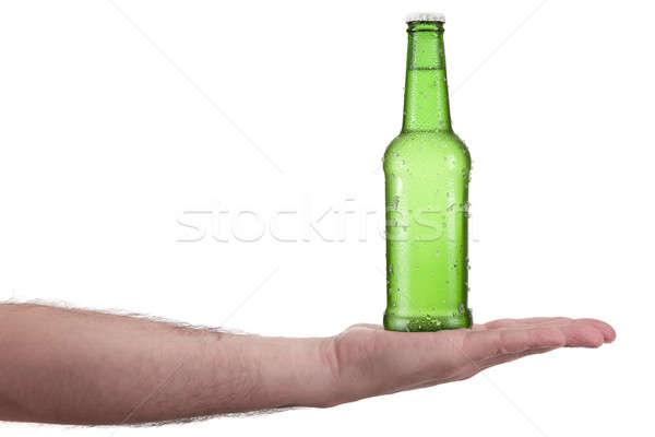 Tutaj piwa dłoni strony człowiek Zdjęcia stock © antonprado