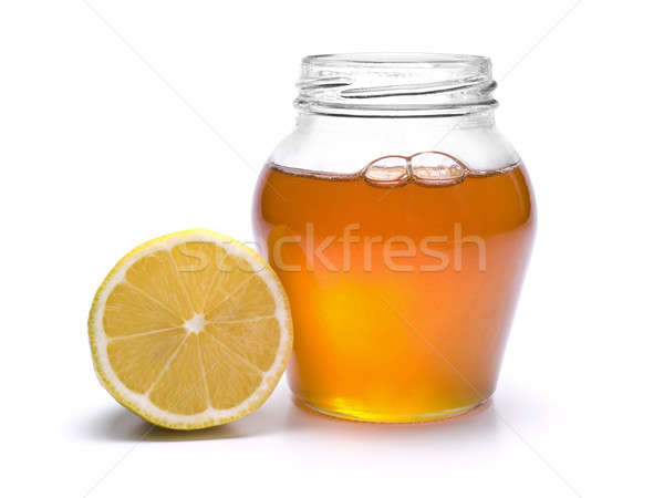 Stock photo: Honey jar