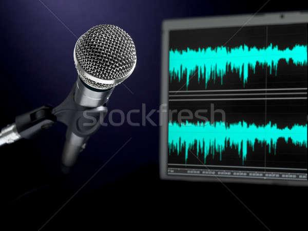 Microphone on recording studio. Stock photo © antonprado