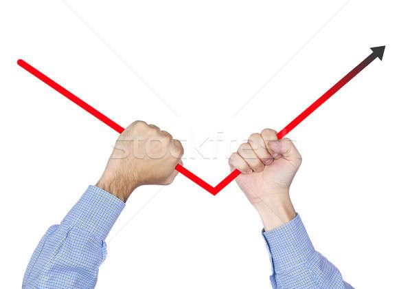 Fixing negative arrows Stock photo © antonprado