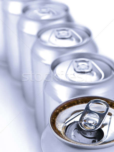 Silver soda cans Stock photo © antonprado