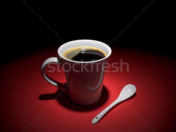 Caffè momento Cup gustoso cucchiaio insieme Foto d'archivio © antonprado