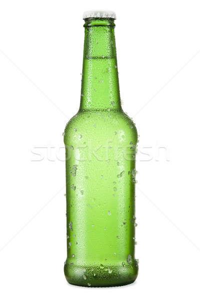 Piwa odizolowany butelki biały świetle tle Zdjęcia stock © antonprado