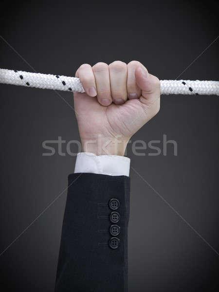 Tart közelkép kéz akasztás kötél üzlet Stock fotó © antonprado