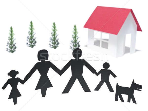 Family mortgage Stock photo © antonprado