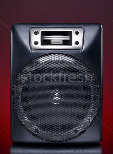 Siyah konuşmacı kırmızı teknoloji güç ses Stok fotoğraf © antonprado