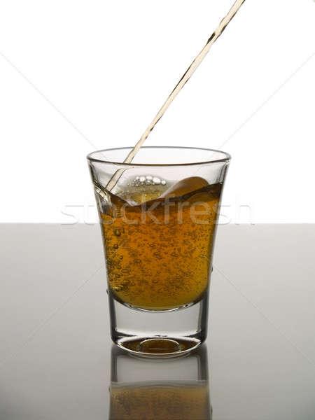 Atış viski beyaz gri zemin Stok fotoğraf © antonprado