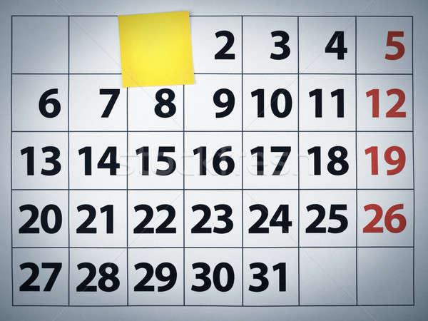 Foto d'archivio: Nota · adesiva · calendario · post · it · giorno