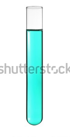 Test tube isolado ciano líquido médico lab Foto stock © antonprado