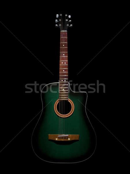 Zielone czarny koncertu retro kolor Zdjęcia stock © antonprado