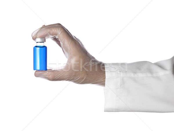 Azul vial médico completo líquido Foto stock © antonprado