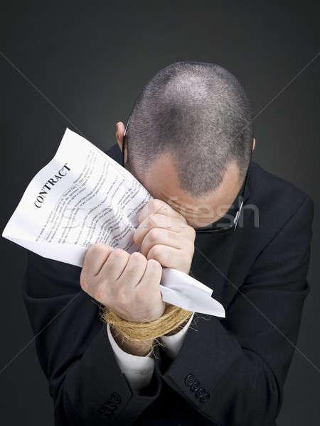 Tied to a contract Stock photo © antonprado