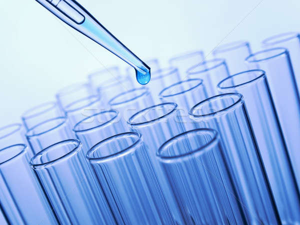 Stock photo: Test tubes and pipette