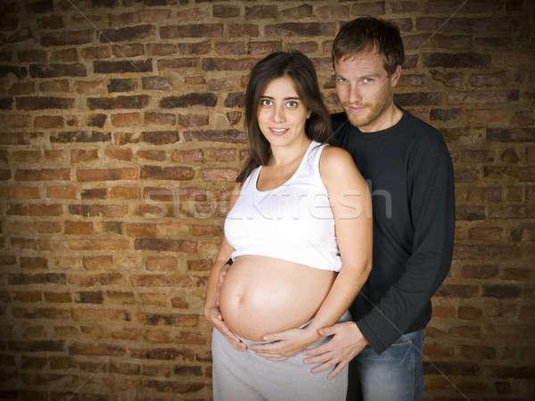Warten erste ein Baby Monat Stock foto © antonprado