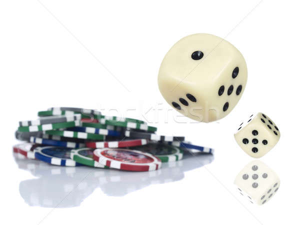 Stock photo: Rolling dices