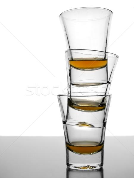 Trzy whisky pusty biały szary Zdjęcia stock © antonprado