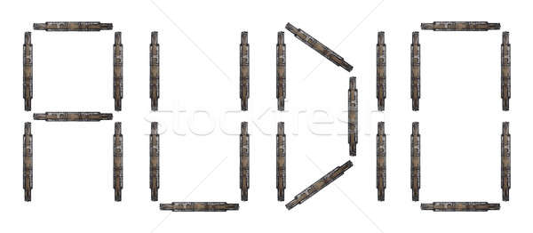 Audio litery technologii tle Zdjęcia stock © antonprado