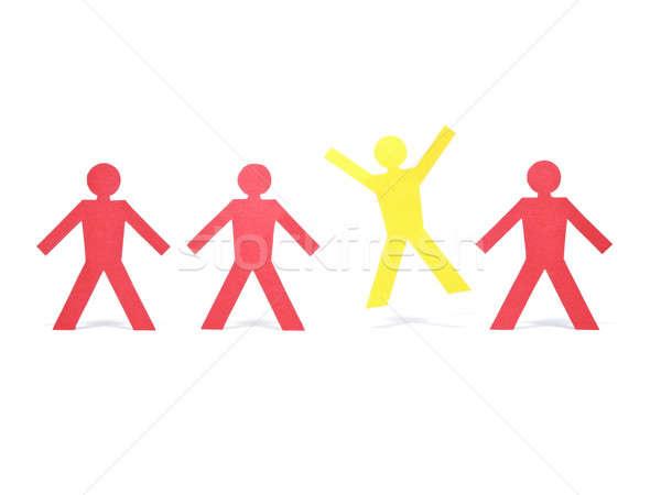 Uroczystości żółty papieru rysunku inny Zdjęcia stock © antonprado