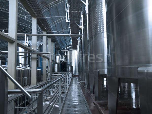 вино оборудование нержавеющая сталь внутри Сток-фото © antonprado