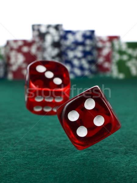 Betting with dices Stock photo © antonprado