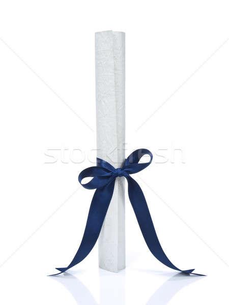 Diploma over white Stock photo © antonprado