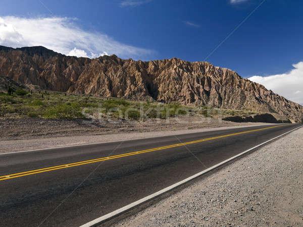 Sky, mountain and road Stock photo © antonprado