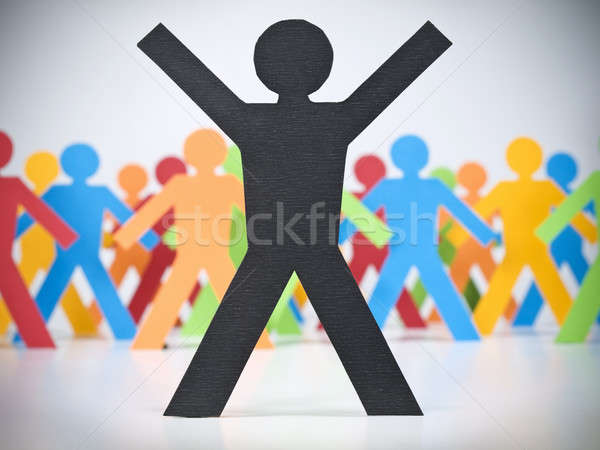 Stock photo: Stand out from the crowd