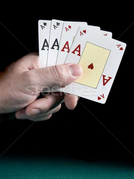 Four aces Stock photo © antonprado