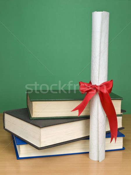 Graduação dia livros diploma Foto stock © antonprado