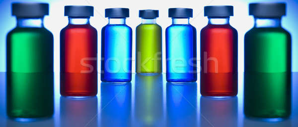 Row of vials Stock photo © antonprado