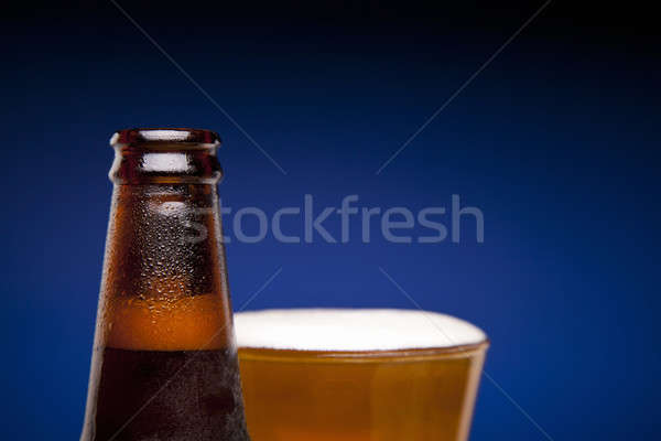 Bottle and glass of beer Stock photo © antonprado