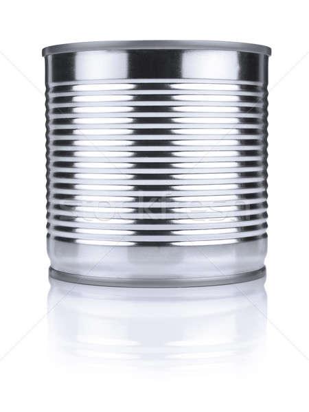 Cyna puszka odizolowany biały tekstury żywności Zdjęcia stock © antonprado