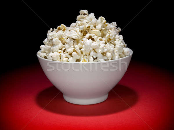 Popcorn bowl Stock photo © antonprado