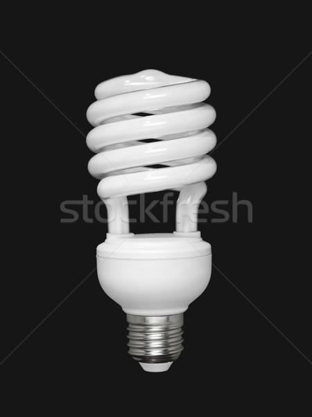 Fluoreszkáló villanykörte fekete kompakt izolált technológia Stock fotó © antonprado