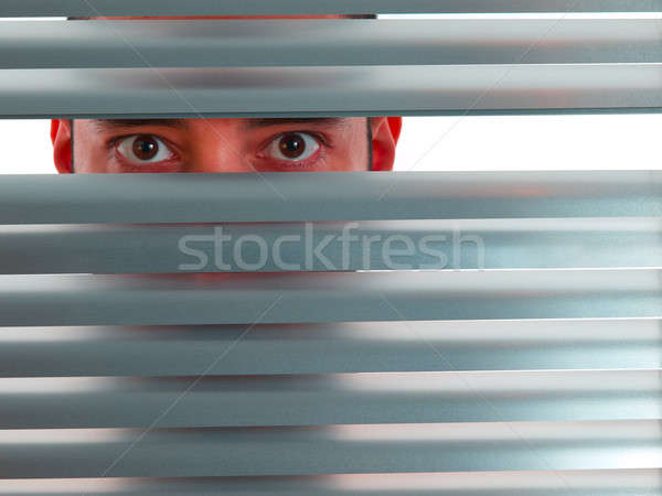 Red peeping Tom Stock photo © antonprado