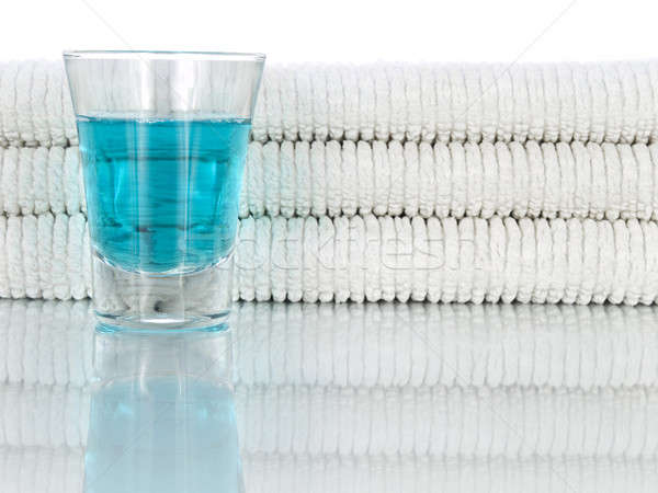 Mouthwash and towels Stock photo © antonprado