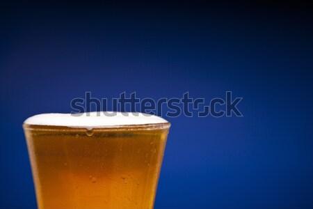 Birra completo vetro copia spazio sfondo Foto d'archivio © antonprado