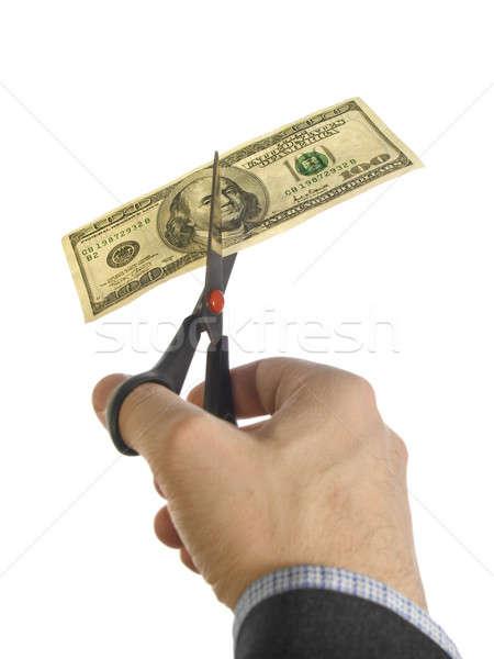 Cut the bill Stock photo © antonprado