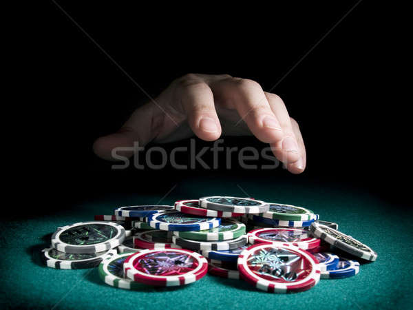 Stock photo: Winning the pot